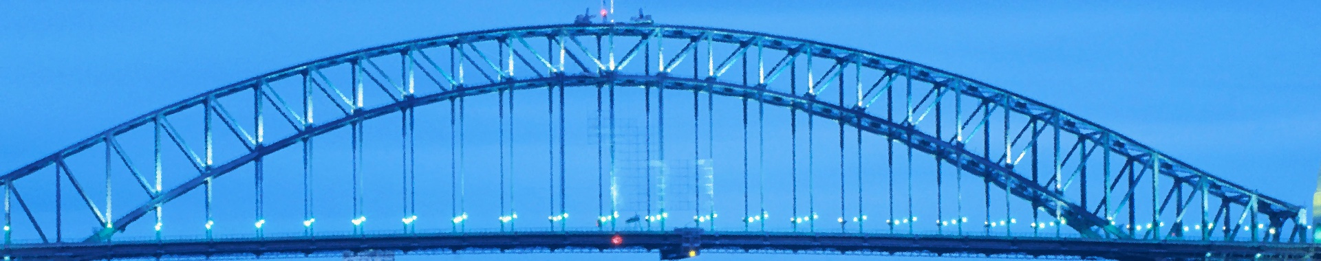 Banner with a bridge (photo)